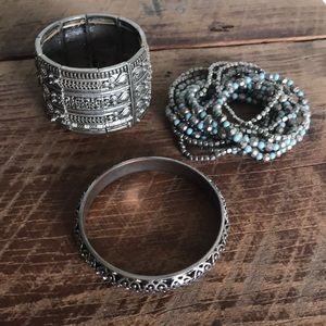 Set of three bracelets